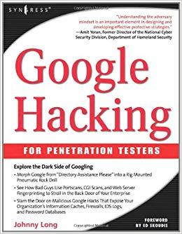 کتاب «هک گوگل برای آزمایش کنندگان نفوذ» Google Hacking For Penetration Testers